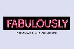 Fabulously - a handwritten marker font Product Image 1