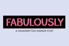 Web Font Fabulously - a handwritten marker font Product Image 1