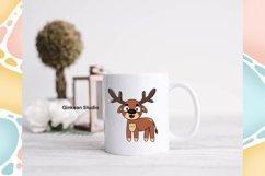 Deer clipart, deer png, digital sticker, sticker,sublimation Product Image 2