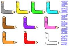 188 Coloured Pencil Cartoon Characters Illustration Bundle Product Image 3