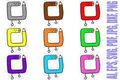 188 Coloured Pencil Cartoon Characters Illustration Bundle Product Image 5