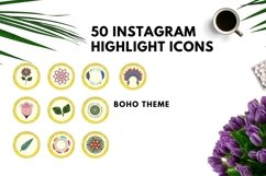 Instagram Story Highlight Icons Yellow Watercolor- Set of 50 Product Image 6