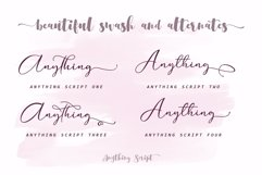 Anything Script || 8 Fonts Product Image 4