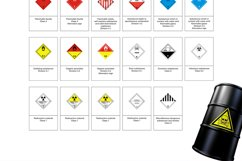 35 Symbol Chemicals Warning GHS SVG AI EPS Product Image 4