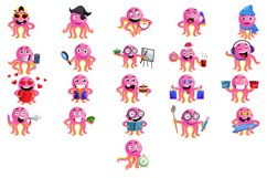 21X Octopus Character Illustrations Product Image 2