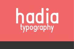 Hadia Typography Product Image 1