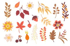 Autumn Foxes and Fall Elements, Woodland Animals Clipart Product Image 3