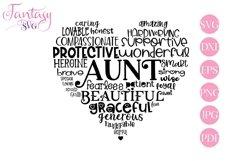 Aunt Word Art - Svg Cut Files Product Image 1