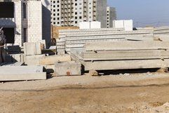 construction site with new ready-made reinforced concrete sl Product Image 2