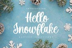 Hello Snowflake - a script winter font Product Image 1
