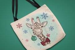 Cute Giraffe Sublimation Design PNG, New Year Bundle Product Image 4