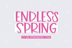 Endless Spring - A Fun Handwritten Font Product Image 1