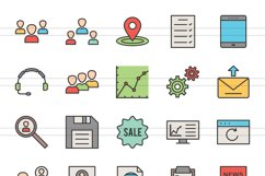 48 Admin Dashboard Filled Line Icons Season II Product Image 2