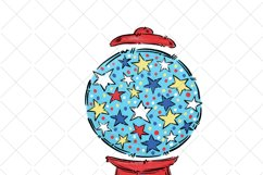 4th of July gum ball machine, sublimation design Product Image 2