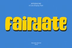 Fairdate Cute Display Font Product Image 1