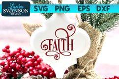 Faith SVG Cut File | Christmas SVG Cut File Product Image 1