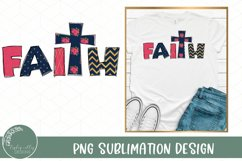 Faith Sublimation Design-Christian Sublimation-Cross PNG Product Image 1