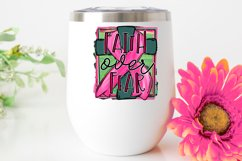 Faith over fear|Pink ribbon & cross|Breast Cancer Awareness Product Image 2