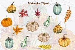Pumpkin Watercolor Clipart Product Image 4