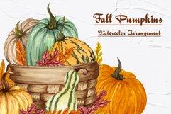 Pumpkin Watercolor Clipart Product Image 5