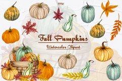 Pumpkin Watercolor Clipart Product Image 1