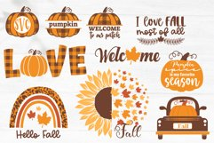 Fall SVG Bundle, Autumn bundle, gnome, pumpkin, fall quotes Product Image 5