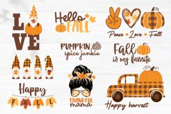 Fall SVG Bundle, Autumn bundle, gnome, pumpkin, fall quotes Product Image 3