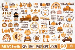 Fall SVG Bundle, Autumn bundle, gnome, pumpkin, fall quotes Product Image 1