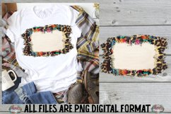 Fall Frame Cheetah Sublimation Design Product Image 1
