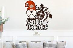 Gnome Pumpkin SVG Glowforge Farmhouse Sign Laser Cut Files Product Image 2