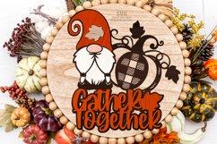Gnome Pumpkin SVG Glowforge Farmhouse Sign Laser Cut Files Product Image 5