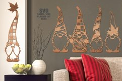 Fall Leaf Garden Gnome SVG Glowforge Laser Cut Files Bundle Product Image 2