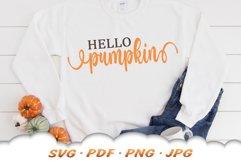 Hello Pumpkin SVG Files For Cricut Product Image 3