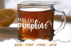 Hello Pumpkin SVG Files For Cricut Product Image 4