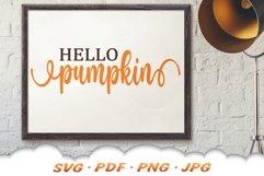 Hello Pumpkin SVG Files For Cricut Product Image 5