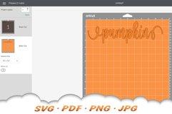 Hello Pumpkin SVG Files For Cricut Product Image 2