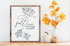 Fall Is Proof That Change Is Beautiful SVG - Autumn Design Product Image 3