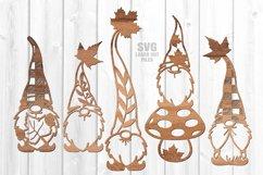 Fall Leaf Garden Gnome SVG Glowforge Laser Cut Files Bundle Product Image 5