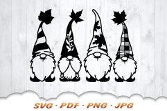 Fall Garden Gnomes SVG Bundle Product Image 4