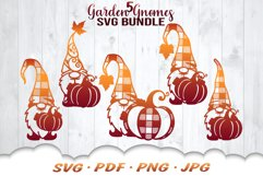 Fall Pumpkin Garden Gnomes SVG Bundle Product Image 1