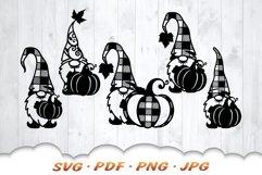 Fall Pumpkin Garden Gnomes SVG Bundle Product Image 4