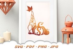 Fall Monogram Garden Gnomes SVG Bundle Product Image 5