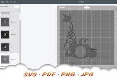 Fall Monogram Garden Gnomes SVG Bundle Product Image 2