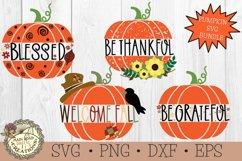 sunflower pumpkin-fall pumpkin svg-be grateful-be thankful-welcome fall-blessed svg