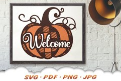 Fall Pumpkin Welcome SVG Cut Files Product Image 4