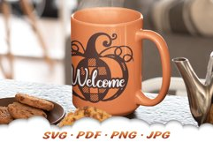 Fall Pumpkin Welcome SVG Cut Files Product Image 3