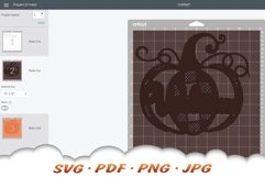 Fall Pumpkin Welcome SVG Cut Files Product Image 2