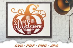 Fall Pumpkin Welcome SVG Cut Files Product Image 5