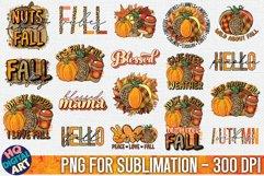 Fall Sublimation Bundle 18 PNG Designs Product Image 1