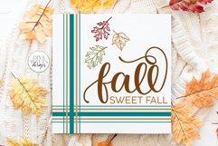 Fall Sweet Fall SVG | Autumn Farmhouse Design Product Image 1